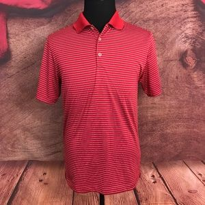 Nike Golf  TP Dri Fit Red Polo Shirt Small